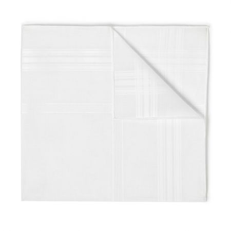 Sonate Batiste Cotton Handkerchief in White