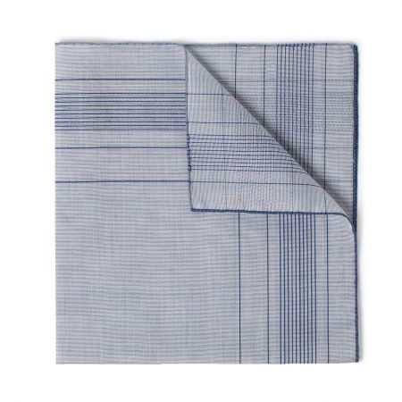 Harlan Batiste Cotton Handkerchief in Navy