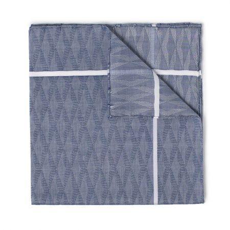 Nocturne Batiste Cotton Handkerchief in Navy