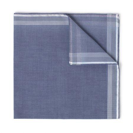 Philharmonie Batiste Cotton Handkerchief in Blue