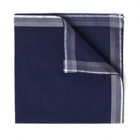 Philharmonie Batiste Cotton Handkerchief in Navy