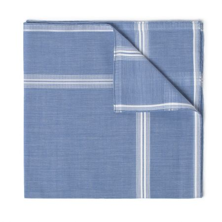 Rivoli Batiste Cotton Handkerchief in Blue