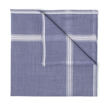 Rivoli Batiste Cotton Handkerchief in Navy
