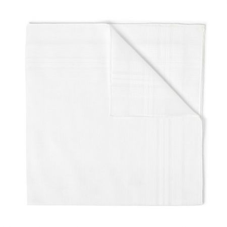 Romantique Batiste Cotton Handkerchief in White