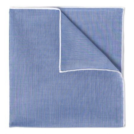 Blue Batiste Cotton Handkerchief