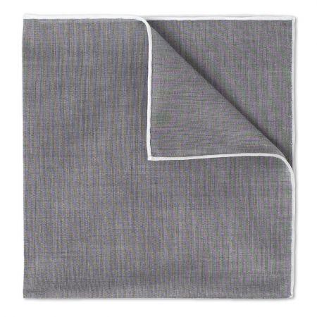 Grey Batiste Cotton Handkerchief