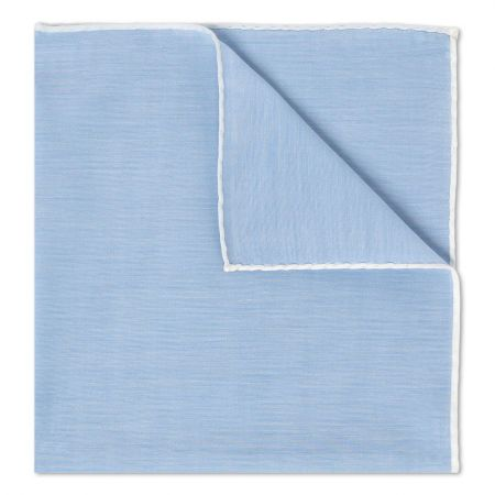 Sky Batiste Cotton Handkerchief