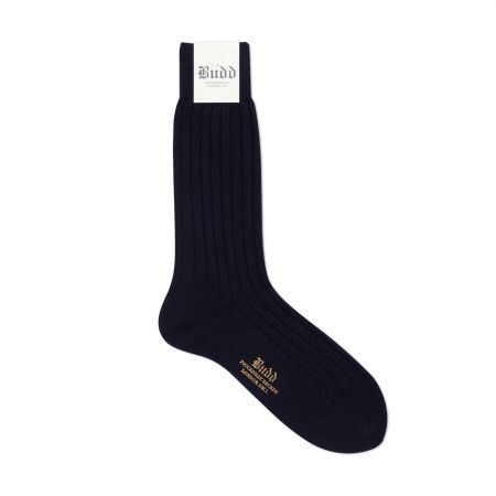 Cashmere Short Socks in Navy