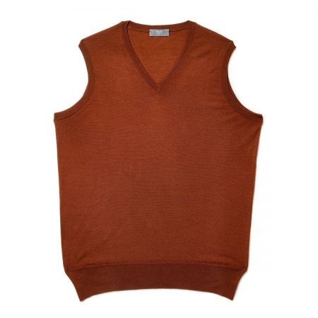 Plain Wool Slip Over Jumper in Cayenne