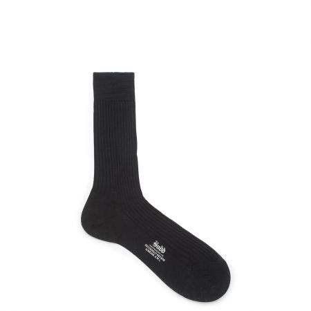Plain Cotton Short Socks in Navy