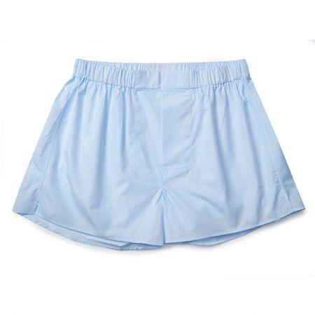 Plain Cotton Chairman Boxer Shorts in Sky Blue