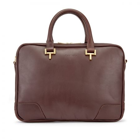 Tusting Mortimer Laptop Case in Chocolate