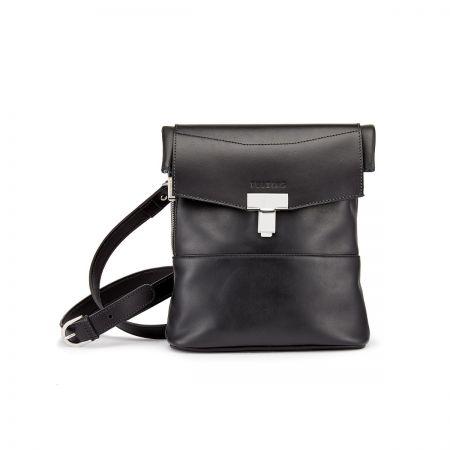 Tusting Ripon Reporter Messenger Bag in Black