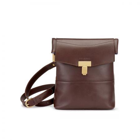 Tusting Ripon Reporter Messenger Bag in Chocolate