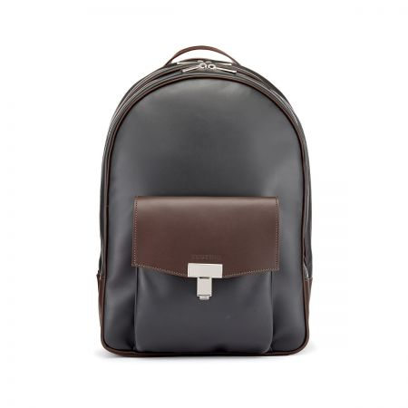 Tusting Seaton Backpack in Pewter and Chocolate