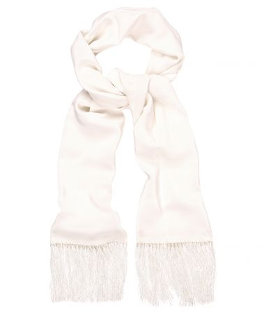 Ivory Silk Dress Scarf