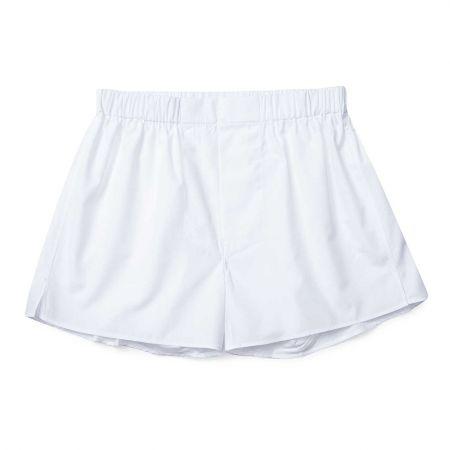 Plain Cotton Chairman Boxer Shorts in White