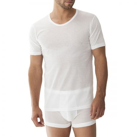 Zimmerli Short Sleeve Crew Tee in White