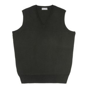 Plain Wool Slip Over Jumper in Bottle