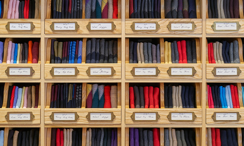 Cotton, Wool, Cashmere and Silk Socks