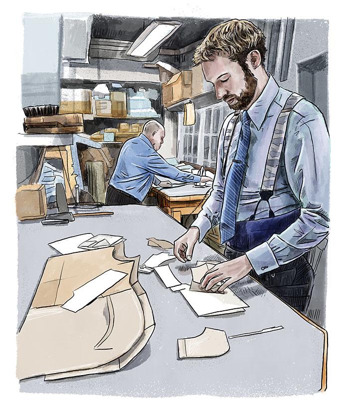 Bespoke Shirt Cutting Room