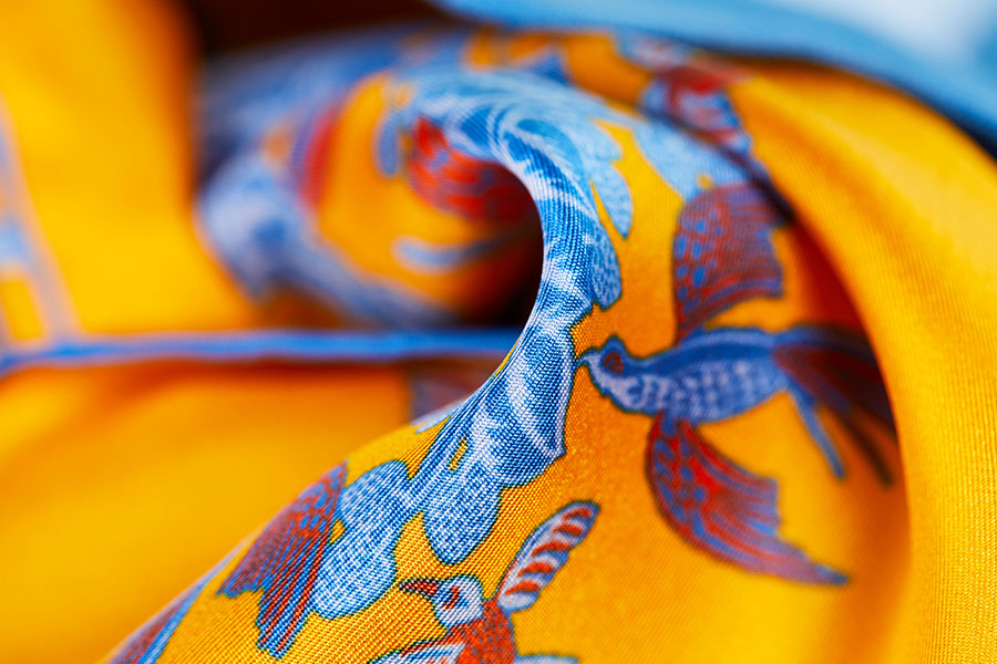 Budd Floral Silk and Wool Pocket Squares