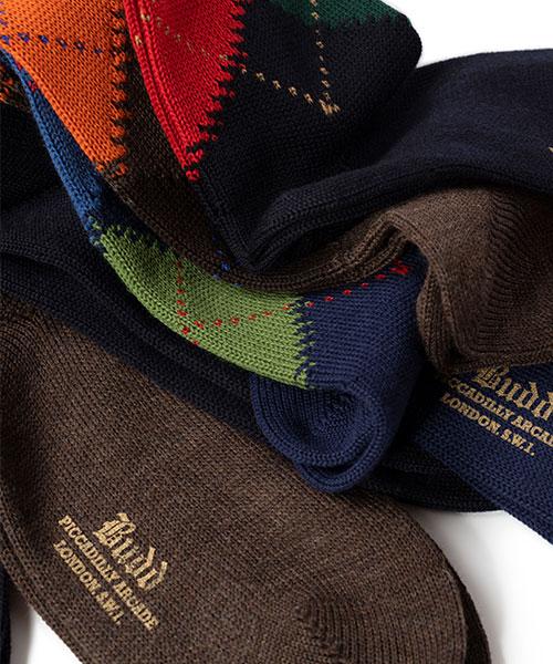 Budd Wool Argyle Socks