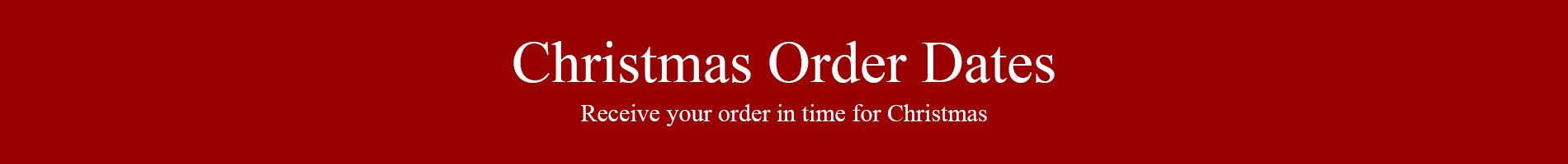 Christmas Order Dates