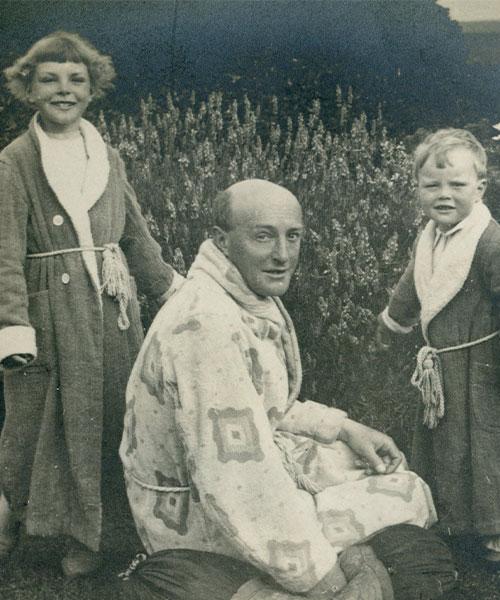 Harold Budd and children