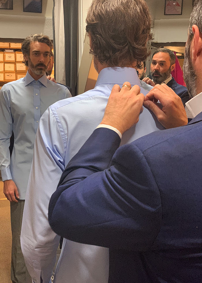 Made To Measure Shirt Fitting