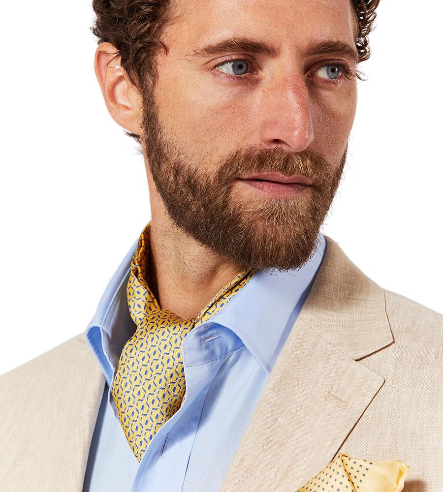 Budd Cotton Poplin Shirt and Silk Cravat