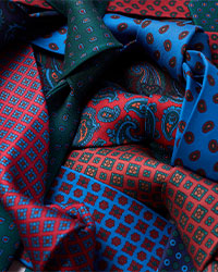 Madder silk ties