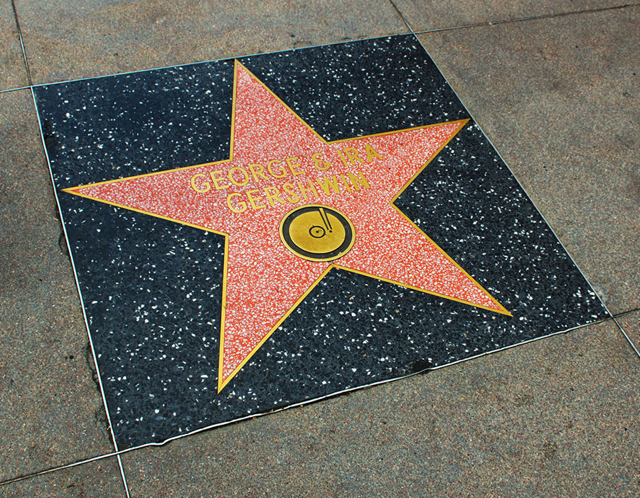 George Gershwin Hollywood Star