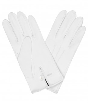 White Leather Dress Gloves