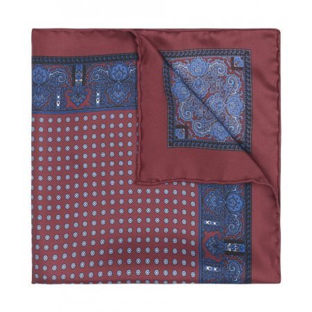 Budd's Pocket Square of the Month: Burgundy with daisies pocket square
