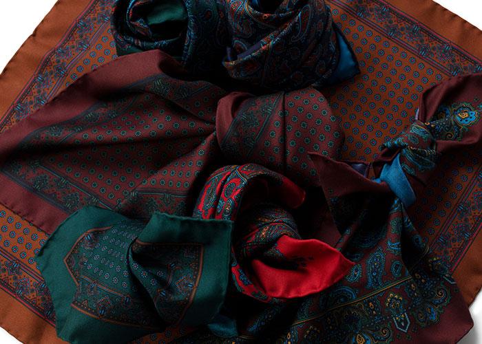 Madder Silk Pocket Squares