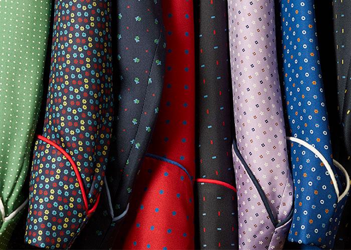 Budd Silk Dressing Gowns Cuffs