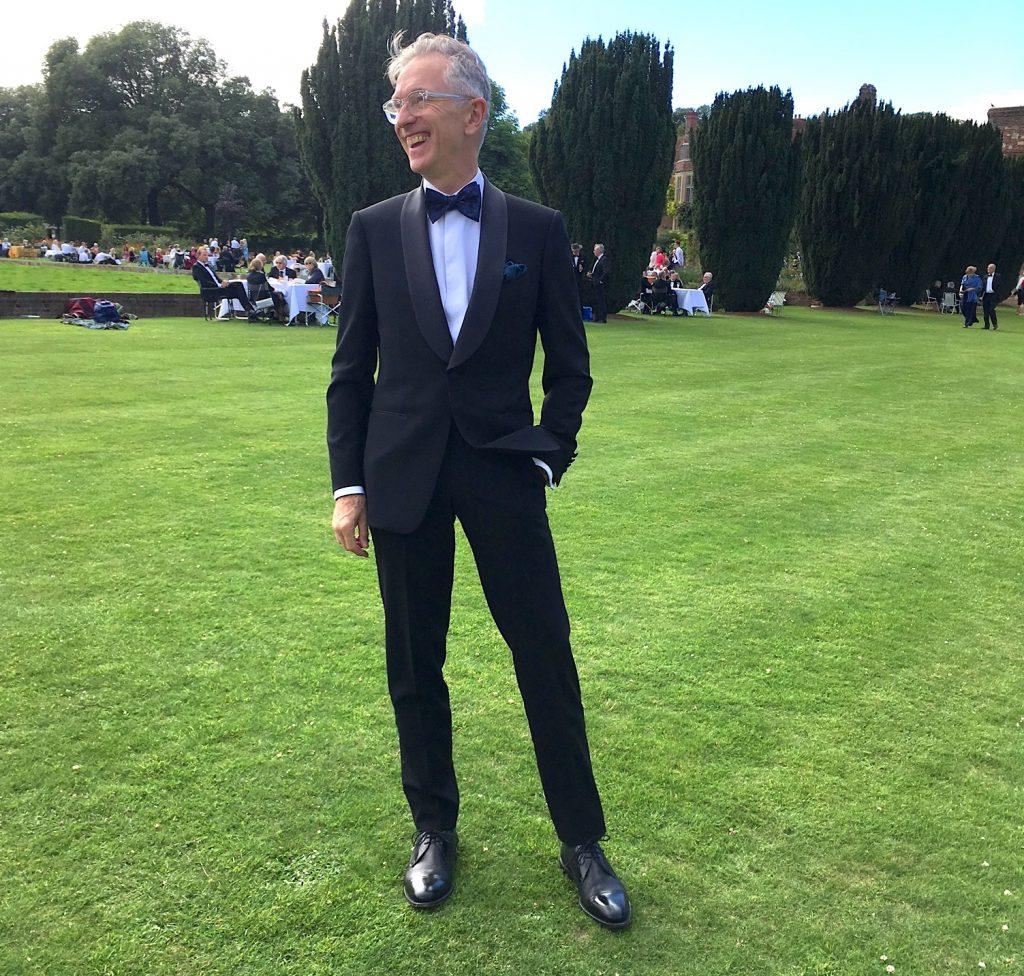 Grey Fox on Black Tie