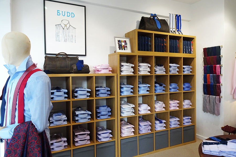 Budd Chelsea Pop-Up Store Shirts Display