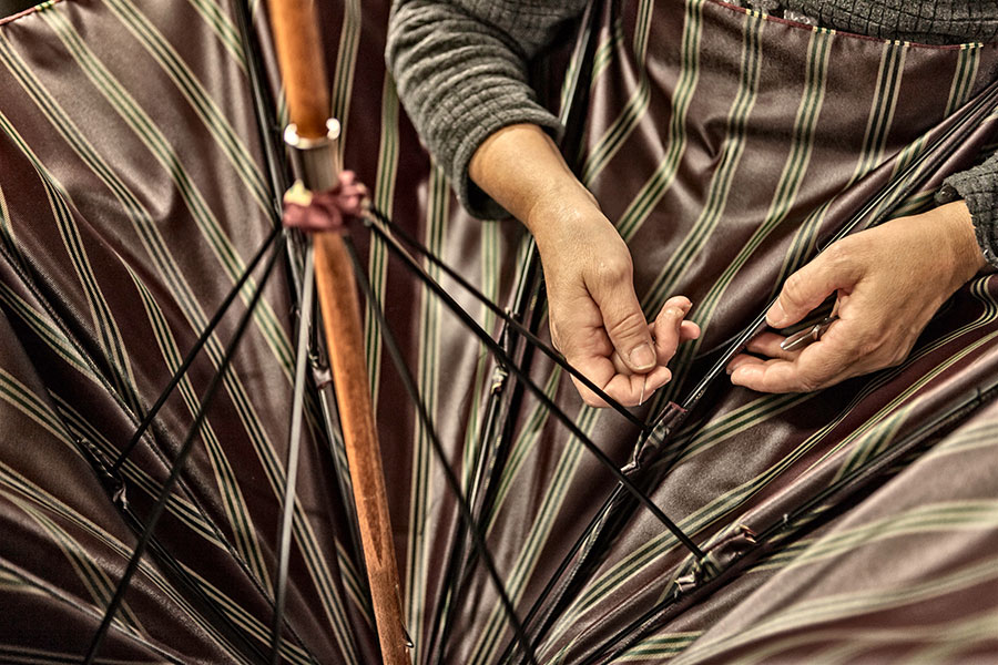 making a maglia umbrella