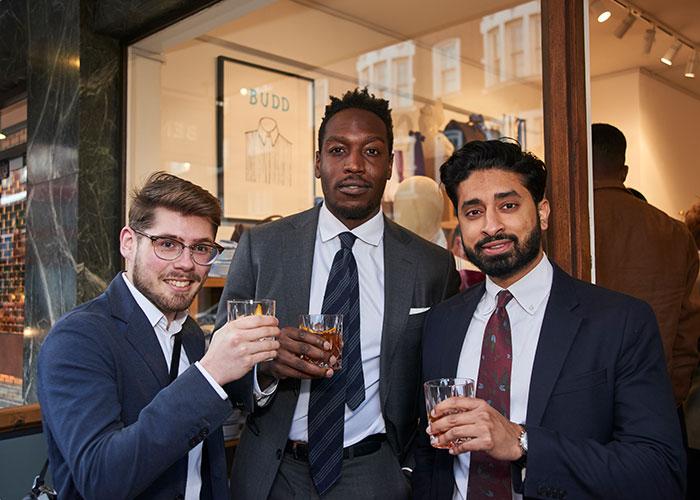 Left to Right: Luke Alland, Bola Odusina and Gruj Sohanpal