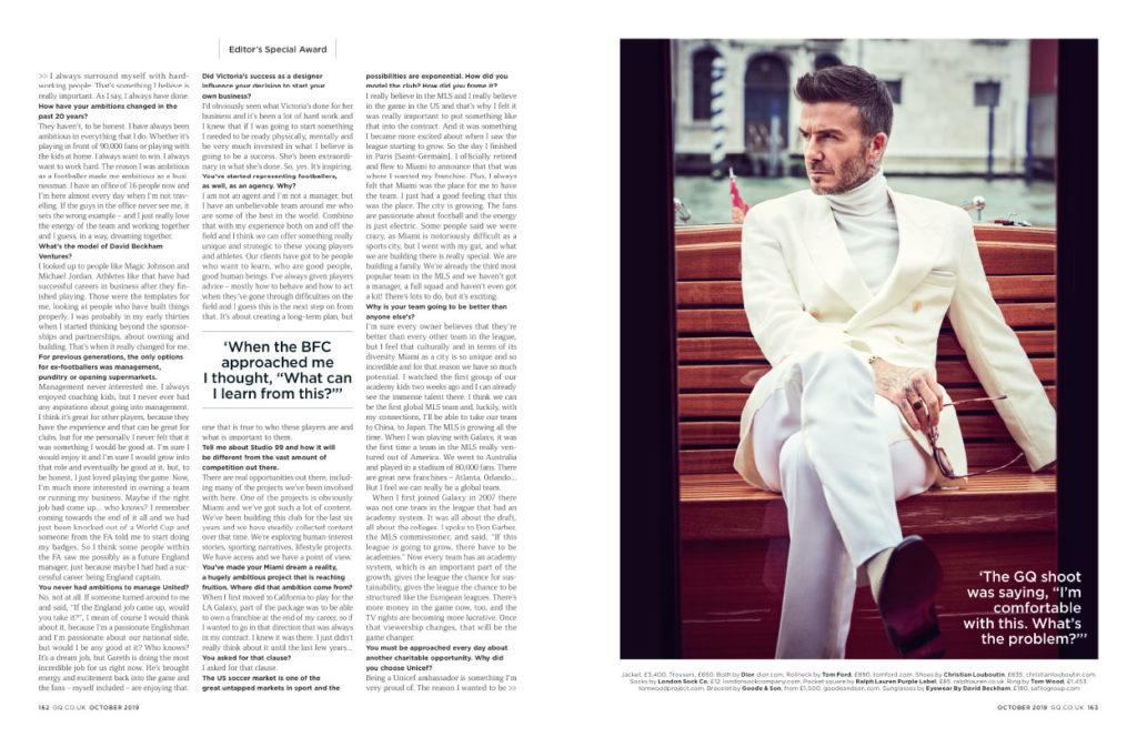 David Beckham GQ