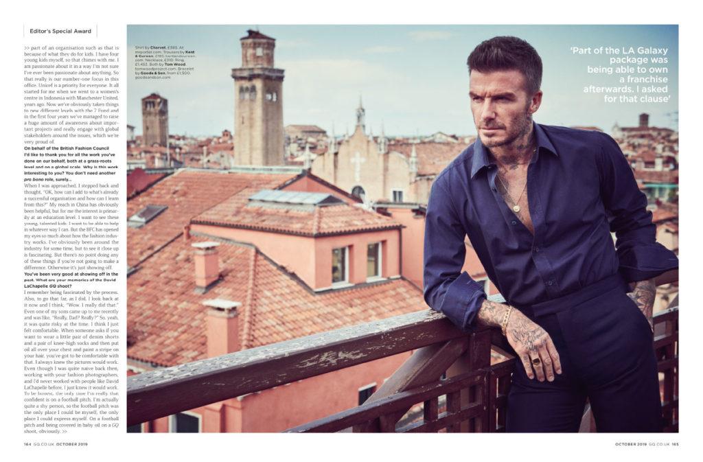 David Beckham GQ Magazine