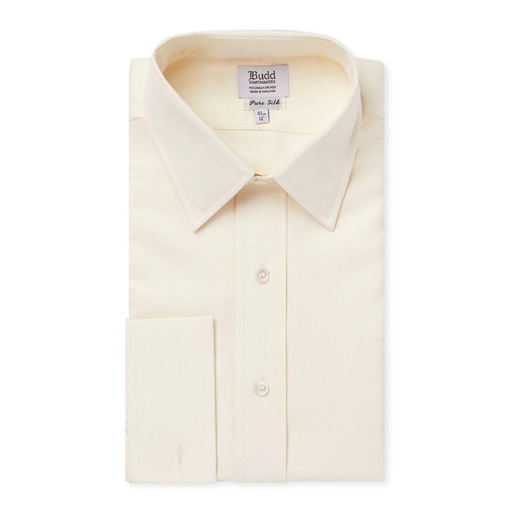 Plain Silk Dress Shirt