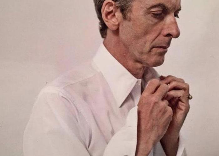 Peter Capaldi wearing Budd Bespoke shirt