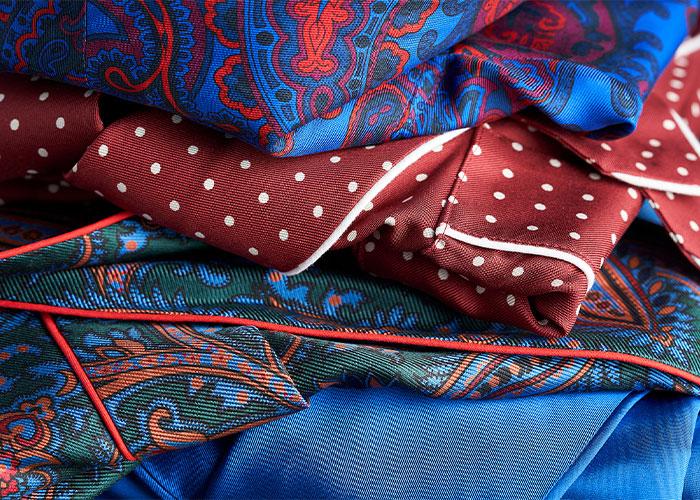 Budd Silk Dressing Gown Details