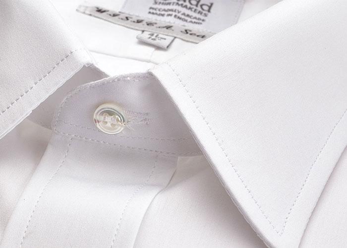 Sea Island Cotton Shirt in White