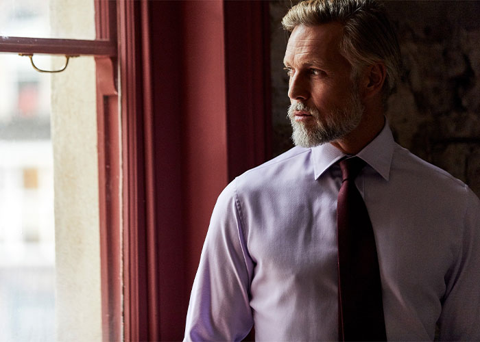 Budd cotton shirt and silk tie