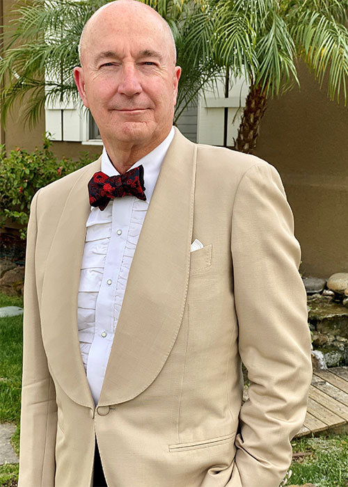 Andrew Poupart wearing Black Tie