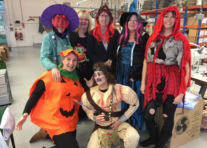 Halloween at the Budd Andover factory